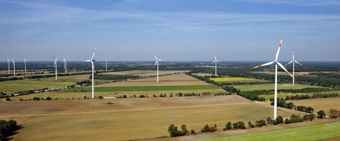 Windpark in Buchholz, Niedersachsen.