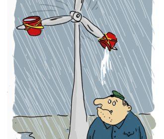 Energiewende Karikatur Schietwetter
