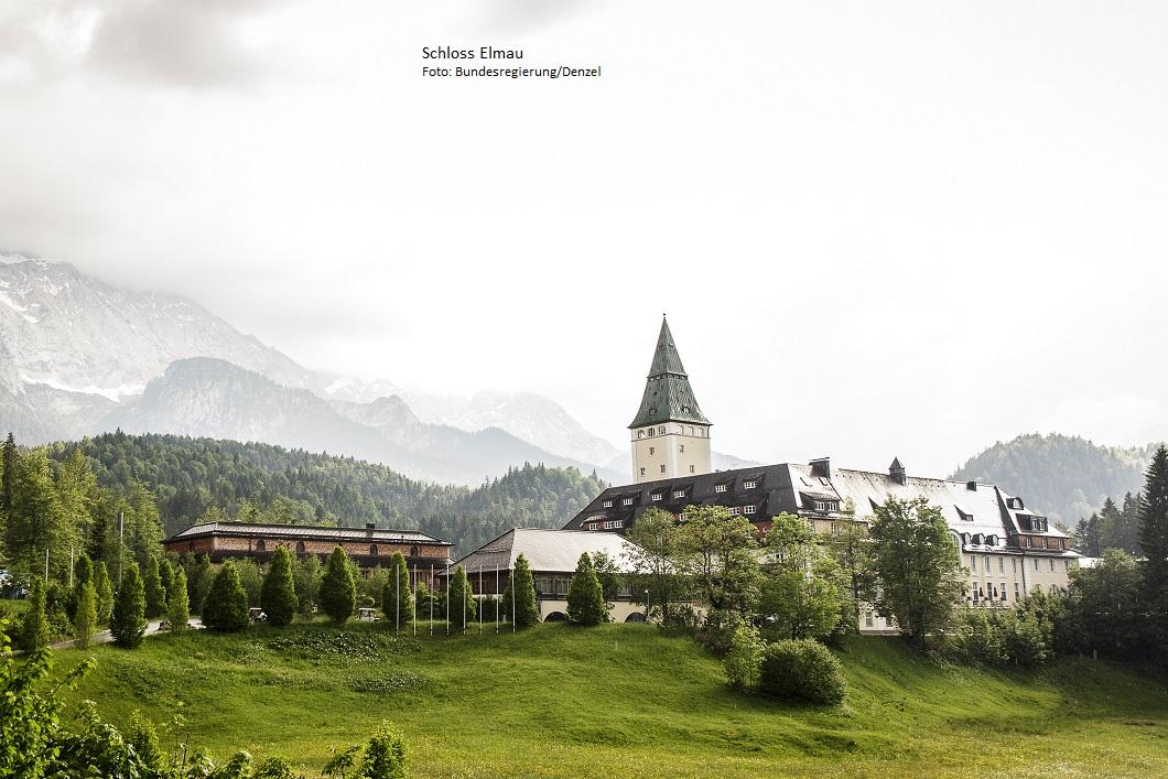 Schloss Elmau im oberbayerischen Wettersteingebirge ist mit seiner landschaftlich reizvollen Kulisse ein geeigneter Tagungsort für den diesjährigen G7-Gipfel.