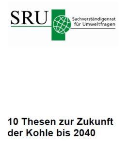 SRU, Klimaabgabe, Kohleplan