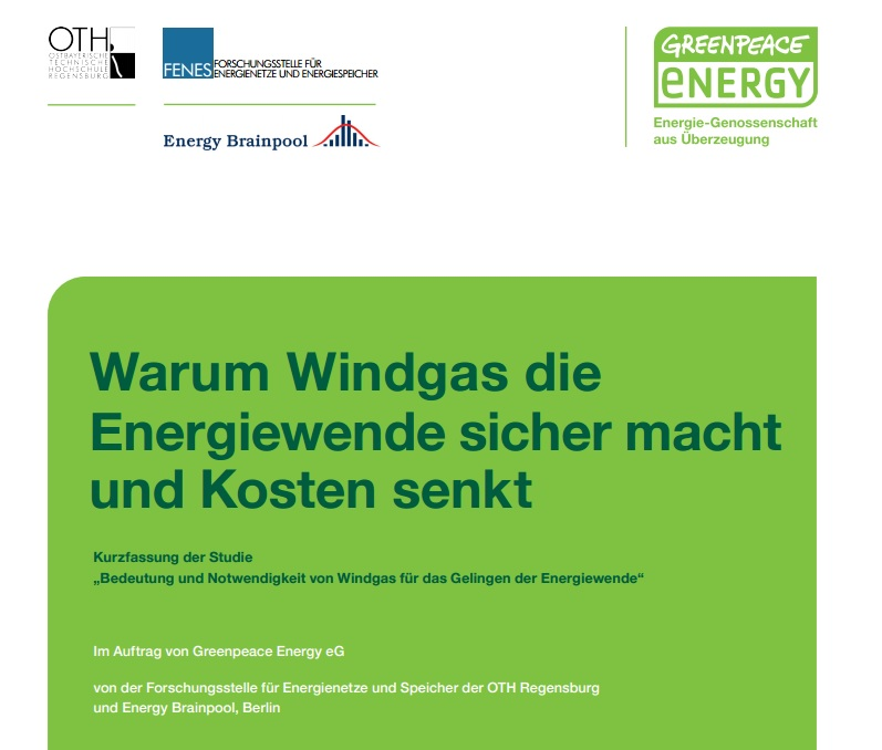Power-to-Gas-Studie, Windgas, Energiewende