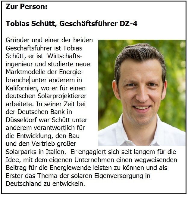 DZ-4, Partner der dezentralen Energiewende, Tobias DZ-4