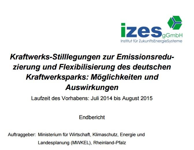 izes, Beschleunigung beim Klimaschutz, Energiewende konkret