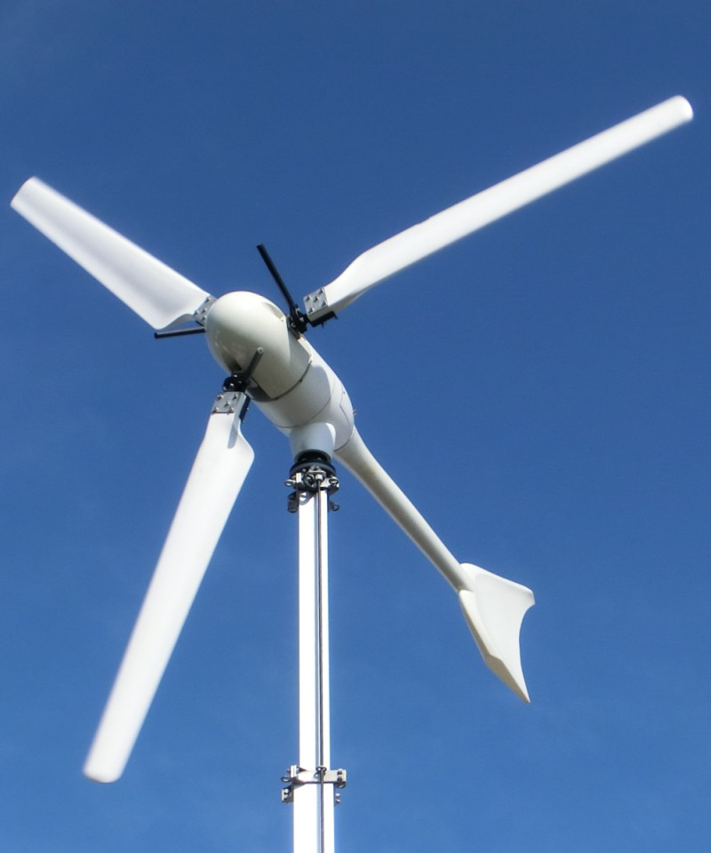 Kleinwindkraftanlage, Foto: Jünnemann