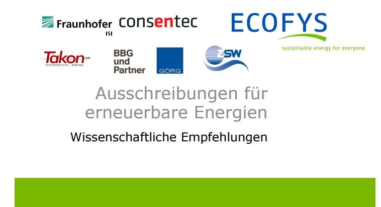 Ausschreibungen für Erneuerbare Energien