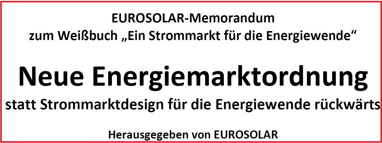 Neue Energiemarktordnung, Eurosolar