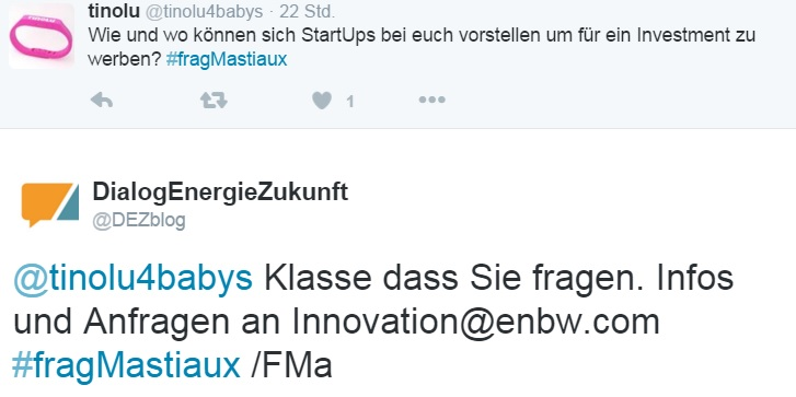#fragMastiaux Dialog mit Start-Up