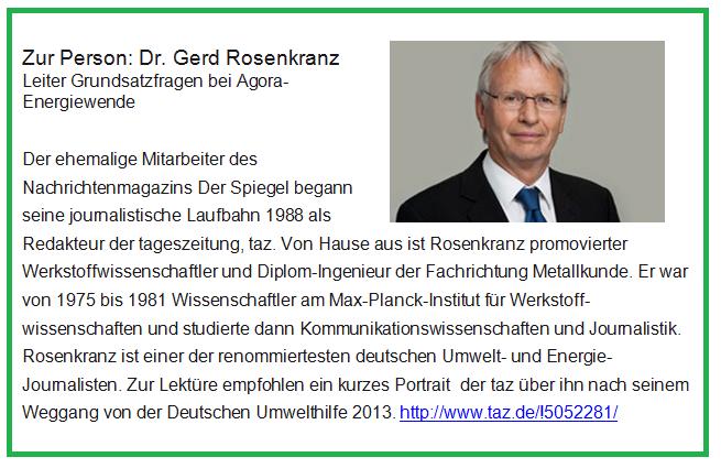 Dr. Gerd Rosenkranz gehört zu den renommiertesten deutschen Umweltjournalisten.