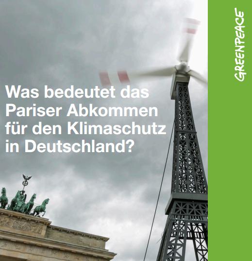 Was bedeutet das Pariser Klimaabkommen für den Klimaschutz in Deutschland?