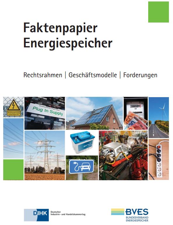 Fakten Energie ist die aktuelle Broschüre in Sachen Energiespeicher des BVES.