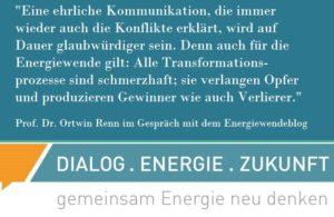 Zitat von Prof. Renn über die Akzeptanz der Energiewende
