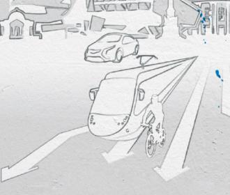 Verschiedene Verkehrsoptionen in der Stadt