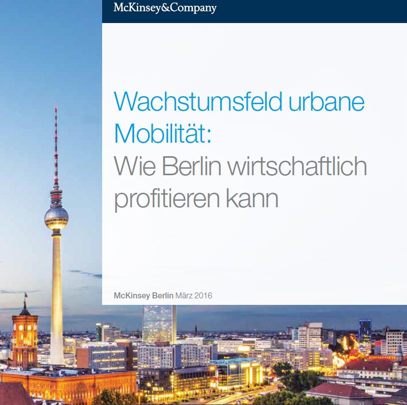 Urbane Mobilität am Beispiel Berlin. Eine Studie von McKinsey