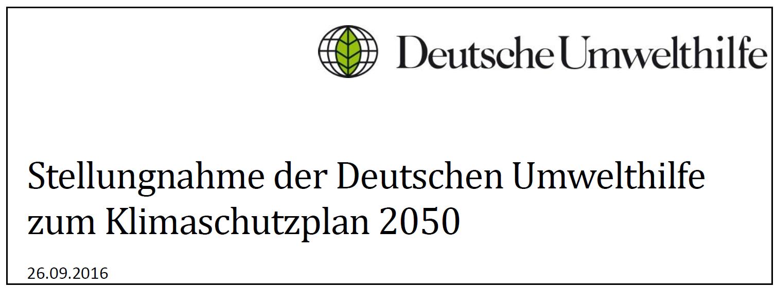 Ein Armutszeugnis - der Klimaschutzplan 2050 der Bundesregierung