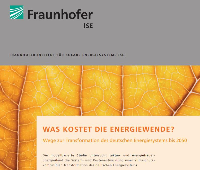Must-have-Produkt Energiewende, Untersuchung Fraunhofer ISE
