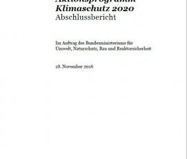 """Der Abschlussbericht von PwC """"Wirtschaftliche Bewertung des Aktionsprogramm Klimaschutz 2020"""" zeigt: Das Aktionsprogramm Klimaschutz ist ein Jobmotor."""