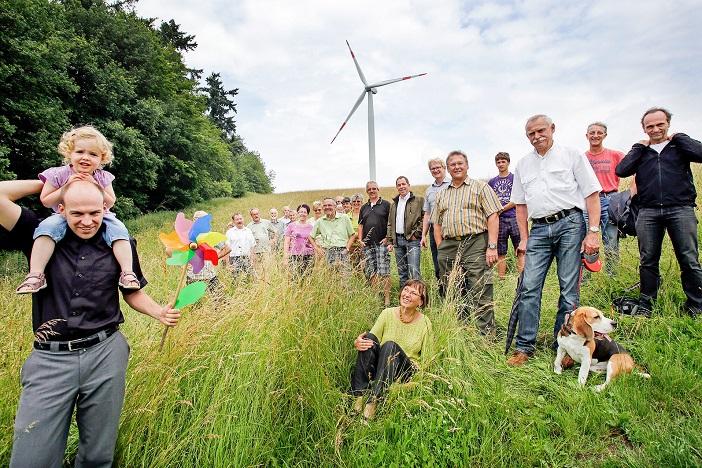 Bürgerenergie mit Kind und Hund: Energiegenossenschaft Starkenburg. © Energiegenossenschaft Starkenburg