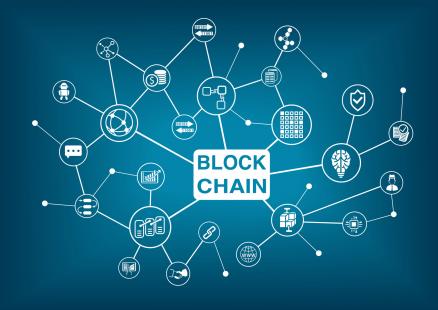 Diese Grafik stellt eine Blockchain dar.