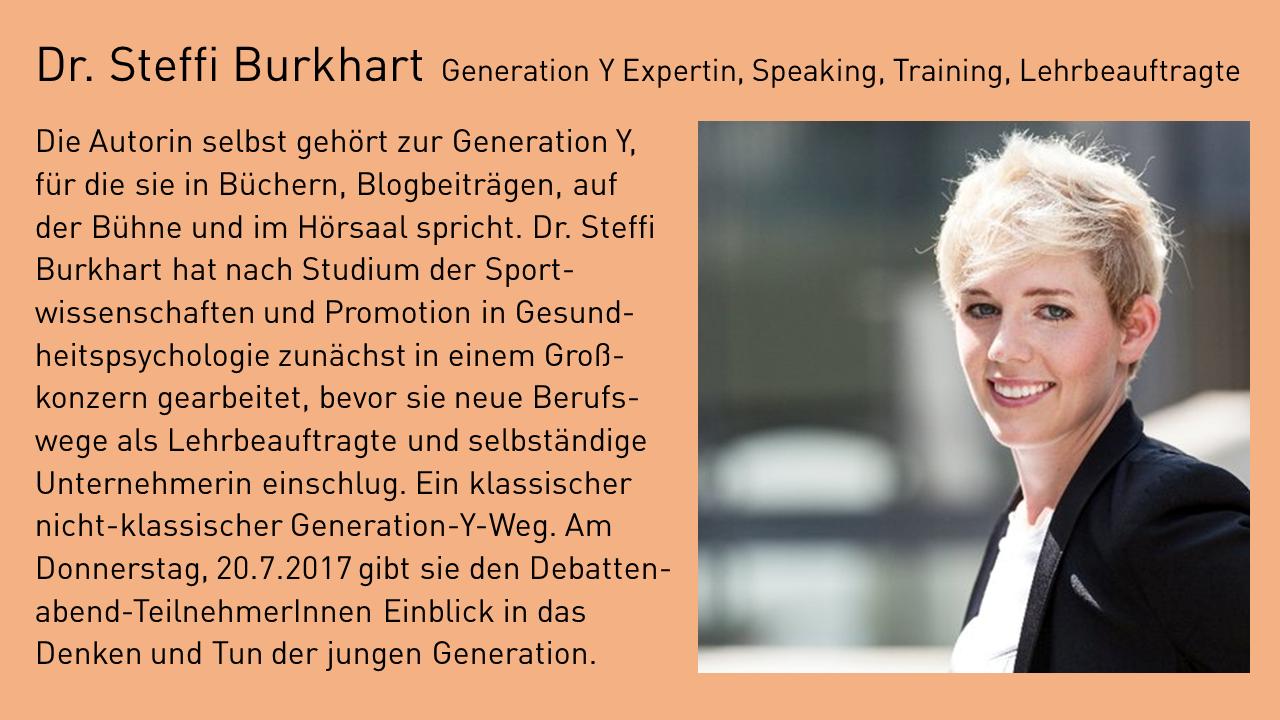 Dr. Steffi Burkhart als Impulsgeberin beim Debattenabend der Stiftung Energie & Klimaschutz Baden-Württemberg. Foto: www.steffiburkhart.com / Florian Schacken