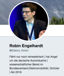 Robin Engelhardt engagiert sich für die Mobilität der Zukunft