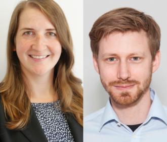 Dr. Kathrin Goldammer und Fabian Grüger
