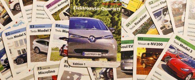 Das Elektroauto-Quartett von Electrify-BW e.V.