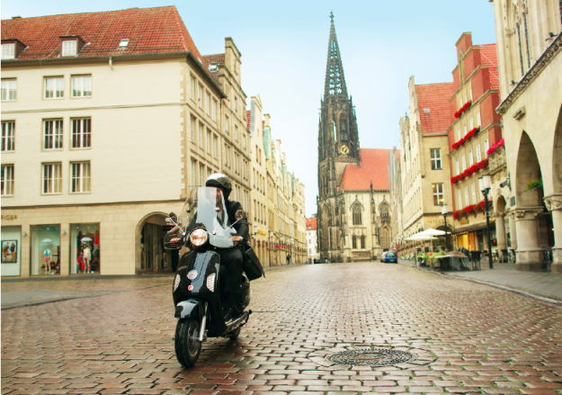 Flexibel unterwegs dank e-scooter-sharing