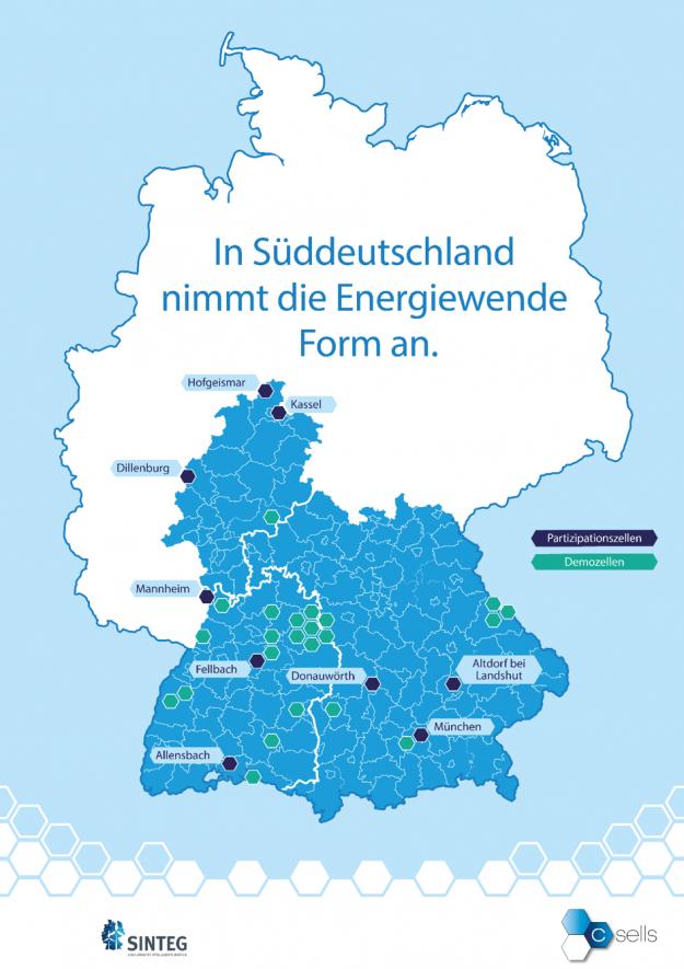 In Süddeutschland nimmt die Energiewende Form an: Zehn Orte in Süddeutschland, wo die Mitmach-Energiewende im Fokus steht.