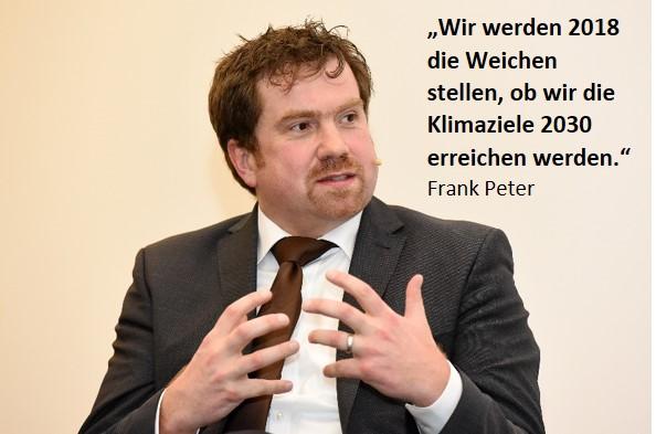 Beim Debattenabend: Frank Peter, Stellvertretender Direktor und Leiter Team Deutschland Agora Energiewende