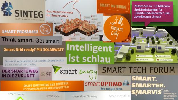 """Auf der E-world ist alles """"smart""""; von """"City"""" über """"Grid"""" und """"Mix"""" bis zu """"Tech""""."""