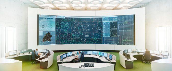 Von wendlingen aus wird das Übertragungsnetz in Baden-Württemberg rund um die Uhr gesteuert.